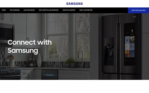 Screenshot of Contact Page samsung.com - Get In Touch | Samsung - captured Dec. 5, 2018