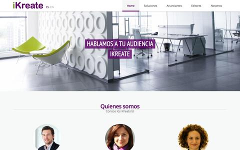 Screenshot of Home Page ikreate.es - iKreate | Agencia de marketing online - captured Sept. 30, 2014