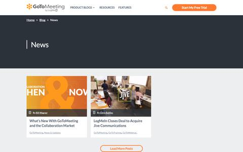 Screenshot of Press Page gotomeeting.com - News Archives - GotoMeeting - captured June 13, 2019