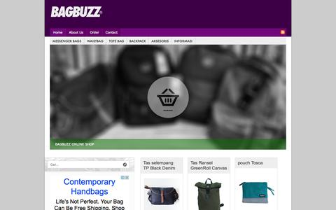 Screenshot of Home Page bag.buzz - BAGBUZZ | Bag, Messenger bag, backpack Shop - captured Sept. 20, 2015