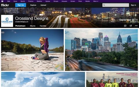 Screenshot of Flickr Page flickr.com - Flickr: crosslanddesigns_inc's Photostream - captured Nov. 2, 2014