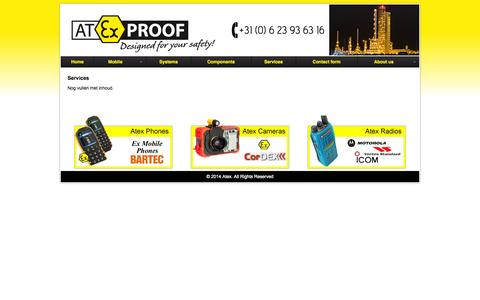 Screenshot of Services Page atexproof.com - Atex Proof  » Contact - captured Sept. 30, 2014