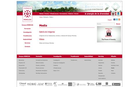 Screenshot of Press Page campusmoncloa.es - Media | Campus Moncloa: Campus de Excelencia Internacional - captured Oct. 1, 2014