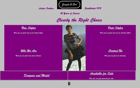 Screenshot of Home Page josephlebon.com - Joseph Le Bon Fashions Inc. - captured Oct. 9, 2015