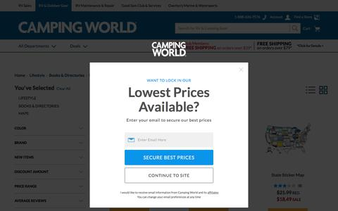 Screenshot of Maps & Directions Page campingworld.com - Lifestyle > Books & Directories > Maps - Camping World - captured April 25, 2018