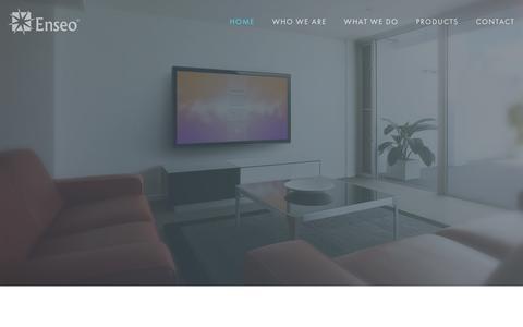 Screenshot of Home Page enseo.com - Enseo - captured Dec. 10, 2015
