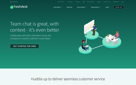 Team collaboration by Freshdesk : Team Huddle