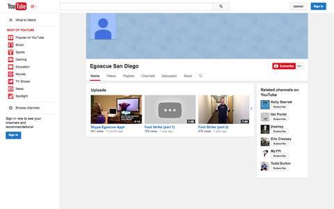 Screenshot of YouTube Page youtube.com - Egoscue San Diego  - YouTube - captured Oct. 22, 2014