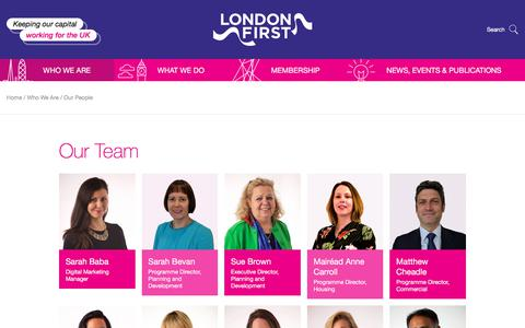 Screenshot of Team Page londonfirst.co.uk - Our Team | London First - captured July 18, 2018