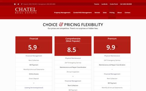 Screenshot of Pricing Page chatelrealestate.com - Pricing - Chatel Real Estate - captured Nov. 4, 2018