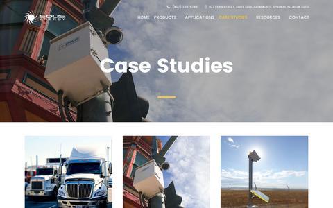 Screenshot of Case Studies Page solisenergy.com - Case Studies - Solis Energy - captured Dec. 1, 2016