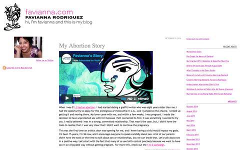 Screenshot of Blog typepad.com - Favianna.com - captured Jan. 10, 2017