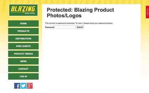 Screenshot of Login Page blazingproducts.com - Blazing Product Photos/Logos - Blazing Products - captured Sept. 30, 2014
