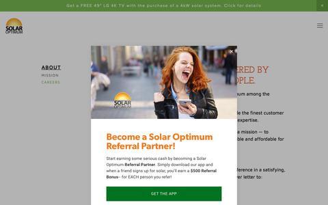Screenshot of Jobs Page solaroptimum.com - Solar Optimum - Careers - captured Nov. 11, 2017