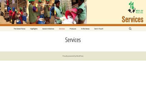 Screenshot of Services Page hasirudala.in - Services | Hasirudala - captured July 9, 2016