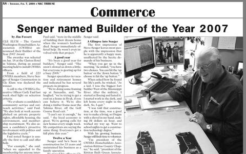 Screenshot of Press Page washington-home-builder.com captured Oct. 3, 2014