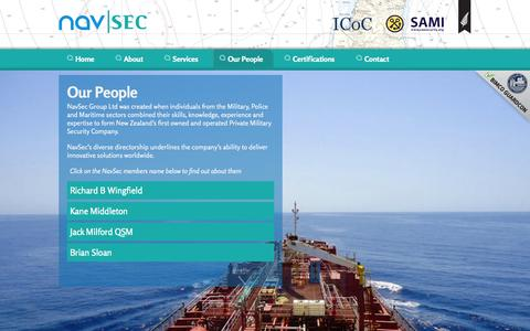 Screenshot of Team Page navsec.co.nz - Navsec | Our People | Maritime Security Investigations Risk Management - captured Oct. 26, 2014