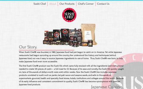 Screenshot of About Page sushichef.com - About Sushi Chef - captured Dec. 17, 2016
