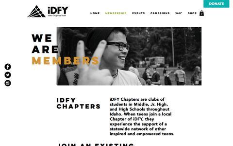 Screenshot of Signup Page idahodrugfreeyouth.org - Idaho Drug Free Youth (iDFY) | Belong to Something Positive | Membership - captured June 7, 2017