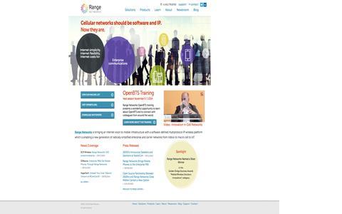 Screenshot of Home Page rangenetworks.com - Range Networks - captured Sept. 30, 2014