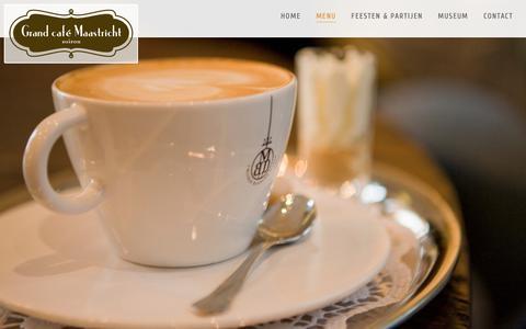 Screenshot of Menu Page grandcafemaastricht.nl - Menu - Grand Café Maastricht | Vrijthof 18 - captured Sept. 30, 2018