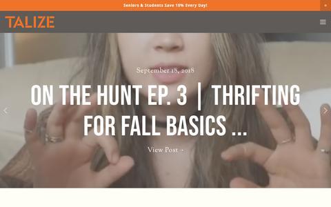 Screenshot of Blog talize.com - Talize Thrift Store  — Blog - captured Sept. 21, 2018