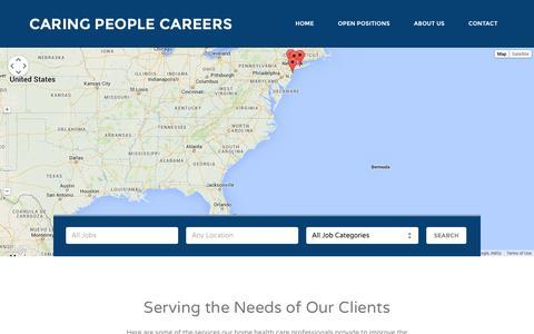Screenshot of Jobs Page caringpeopleinc.com - Caring People Careers - captured Nov. 1, 2014