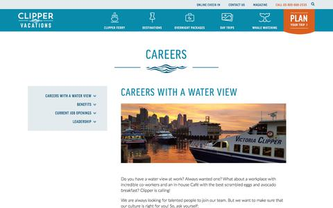 Screenshot of Jobs Page clippervacations.com - Careers | Clipper Vacations - captured July 19, 2018