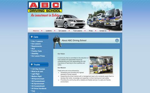 Screenshot of About Page abcdrivingschool.com.au - About Us - ABC Driving School - captured Sept. 30, 2014