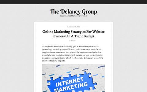 Screenshot of thedelaneygrp.com - The Delaney Group | Best Internet Marketing Reviews - captured Oct. 4, 2015