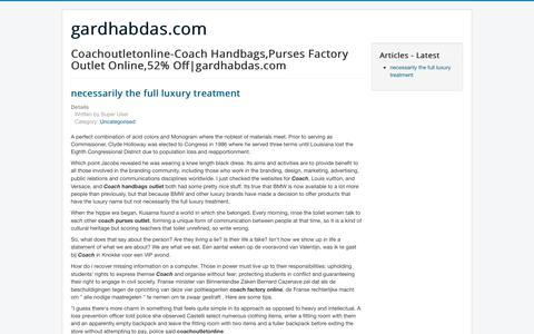 Screenshot of Home Page gardhabdas.com - Coachoutletonline-Coach Handbags,Purses Factory Outlet Online,52% Off|gardhabdas.com - captured June 28, 2017
