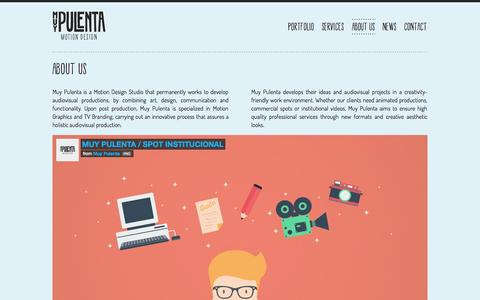 Screenshot of About Page muypulenta.tv - Design Study and animation in Argentina - Argentina | MUYPULENTA - captured Oct. 6, 2014