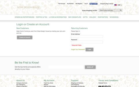 Screenshot of Login Page silsal.com - Customer Login - captured Nov. 2, 2014