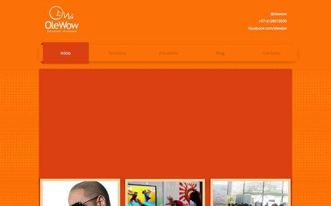 Screenshot of Home Page olewow.com - OleWow Solutions' Inventors - captured Oct. 7, 2014