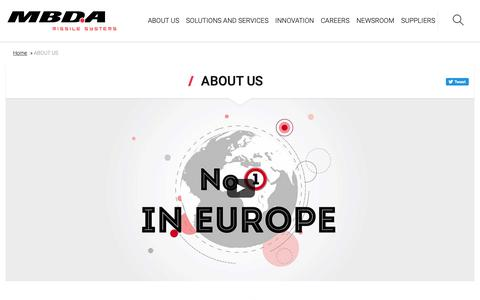 Screenshot of About Page mbda-systems.com - ABOUT US - MBDA - captured Sept. 30, 2018