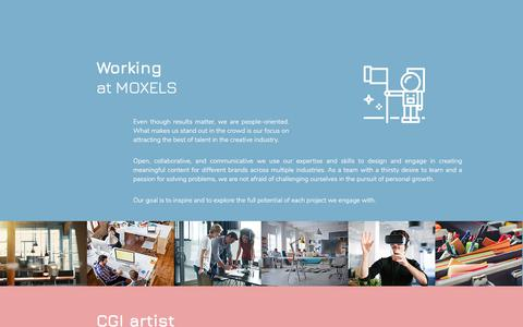 Screenshot of Jobs Page moxels.com - Moxels | Digial Creative Agency - captured Sept. 20, 2018