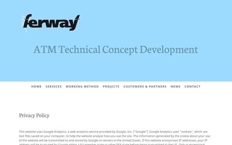 Screenshot of Privacy Page ferway.com - Privacy Policy - FerWay - captured May 11, 2017