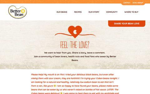 Screenshot of Testimonials Page betterbeanco.com - Bean Love • Better Bean - captured Oct. 22, 2017