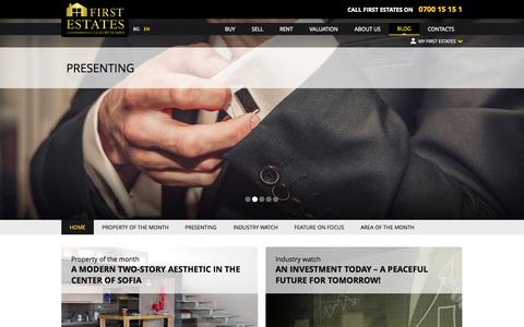 Screenshot of Blog first-estates.com - First Estates - captured Oct. 27, 2014
