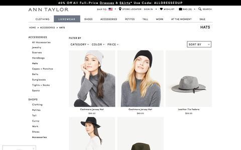 Hats : ANN TAYLOR