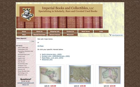 Screenshot of Maps & Directions Page imperialbks.com - Maps - captured Oct. 4, 2014