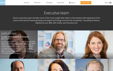 Screenshot of Team Page domo.com - Meet the Domo Executive Team | Domo - captured Nov. 14, 2015