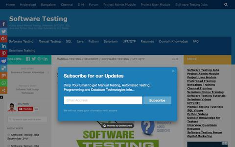 Screenshot of FAQ Page gcreddy.com - Software Testing Interview Questions - Software Testing - captured Sept. 25, 2018