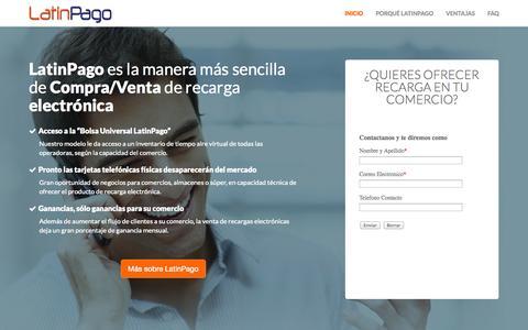 Screenshot of Home Page latinpago.com - Latinpago - captured Sept. 29, 2014