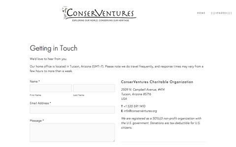 Screenshot of Contact Page conserventures.org - Contact Us Ń ConserVentures - captured Dec. 10, 2015