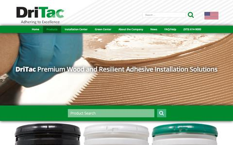 Screenshot of Products Page dritac.com - Floor Adhesive and Floor Installation Products - DriTac - captured Oct. 9, 2018