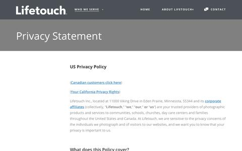 Privacy Statement - Lifetouch
