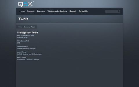 Screenshot of Team Page q5x.com - Team Â« Q5X - captured Nov. 11, 2016
