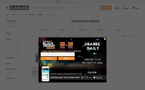 HISENSE Televisions - Buy online | Jumia Kenya