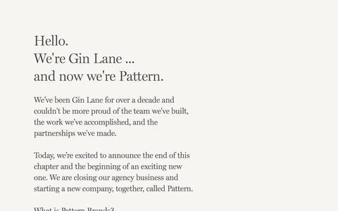 Screenshot of Home Page ginlane.com - Gin Lane - Pattern - captured Aug. 10, 2019